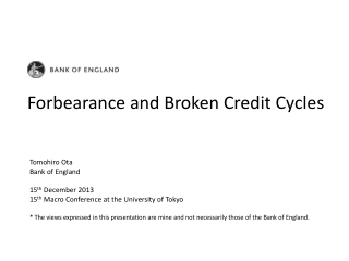 Forbearance and Broken Credit Cycles