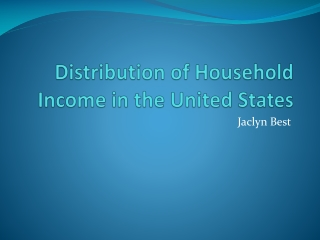 Distribution of Household Income in the United States