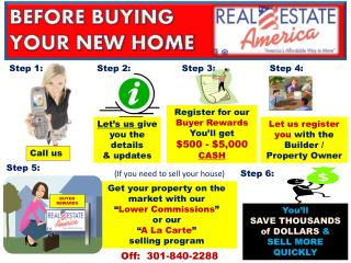 "Get your property on the market with our  "" Lower Commissions ""  or our  "" A La Carte ""  selling program"