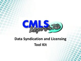 Data Syndication and Licensing Tool Kit