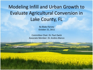 Modeling Infill and Urban Growth to Evaluate Agricultural Conversion in Lake County, FL