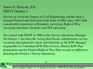 Field Survey for R/W Plans