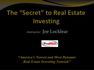 "The ""Secret"" to Real Estate Investing"