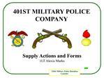 401st military police company
