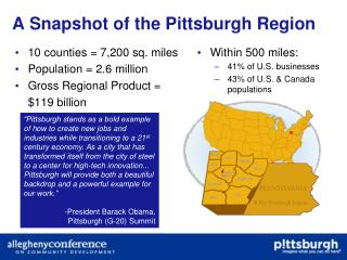 A Snapshot of the Pittsburgh Region