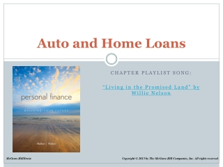 Auto and Home Loans
