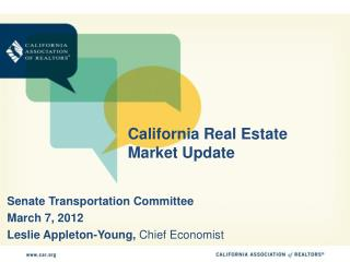 California Real Estate Market Update
