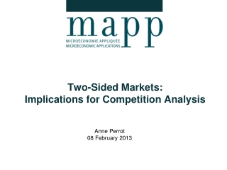 Two-Sided Markets:  Implications  for Competition  A nalysis