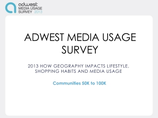 Adwest  media usage survey