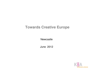 Towards Creative Europe