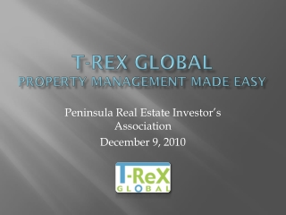 T- ReX  Global  Property Management Made Easy