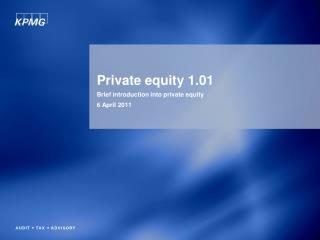 Private equity 1.01