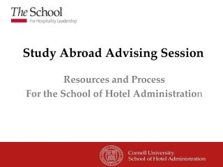 Study Abroad Advising Session