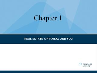 REAL ESTATE APPRAISAL AND YOU
