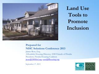 Land Use  Tools to  Promote Inclusion