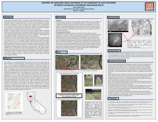 MAPPING THE ABADONED TRAVEL NETWORKS  OF  THE COMMUNITY OF LAKE CALIFORNIA  IN  ORDER  TO  ESTABLISH A  SECONDARY  EVAC