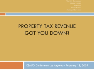 Property Tax Revenue Got you down?