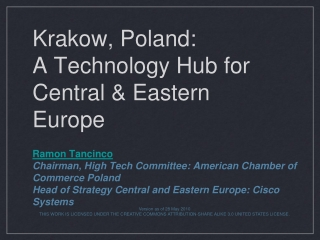 Krakow, Poland: A Technology Hub for Central & Eastern Europe