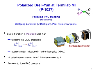 Polarized  Drell -Yan at  Fermilab  MI (P-1027)
