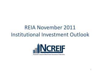 REIA November 2011  Institutional Investment  Outlook