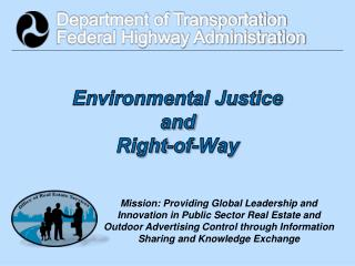 Environmental Justice and Right-of-Way