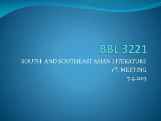BBL 3221