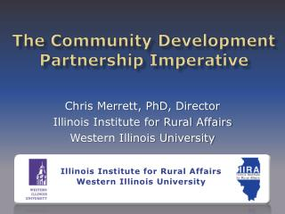 The Community Development Partnership Imperative