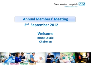 Annual Members' Meeting Welcome  Bruce Laurie Chairman