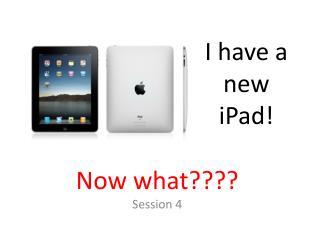 I have a new iPad!