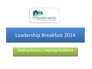 Leadership Breakfast 2014