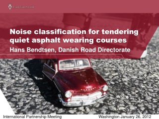Noise classification for tendering quiet asphalt wearing courses