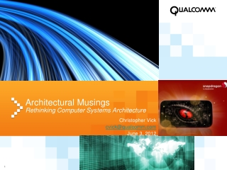Architectural  Musings Rethinking Computer Systems  Architecture