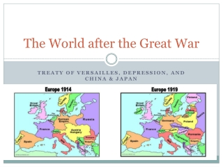 The World after the Great War
