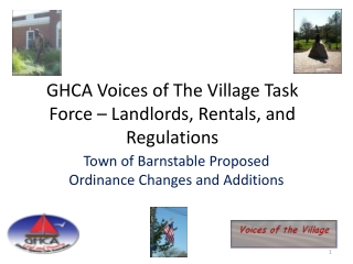 GHCA Voices of The Village Task Force – Landlords, Rentals, and Regulations