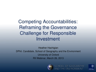 Competing Accountabilities: Reframing the Governance Challenge for  Responsible Investment