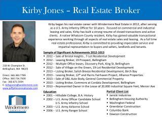 Kirby Jones � Real Estate Broker