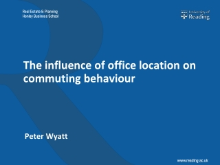 The influence of office location on commuting behaviour