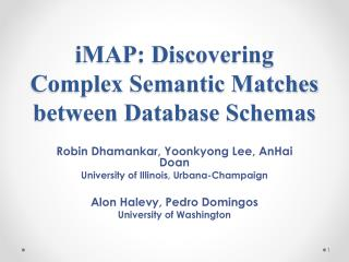 iMAP : Discovering Complex Semantic Matches between Database Schemas