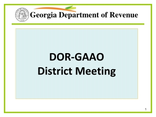 DOR-GAAO District Meeting