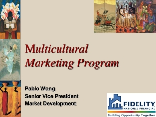 M ulticultural  Marketing Program