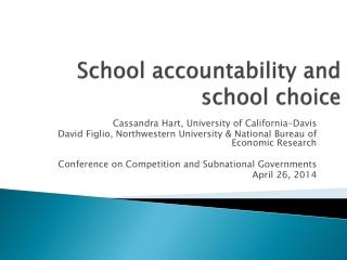 School accountability and school choice