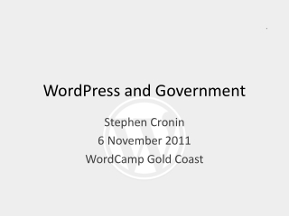 WordPress  and Government