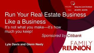 Run Your Real Estate Business Like a Business