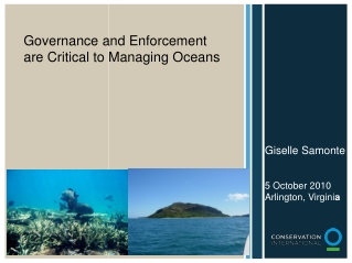 Governance and Enforcement are Critical to Managing Oceans