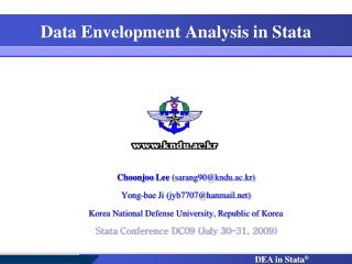 data envelopment analysis in stata
