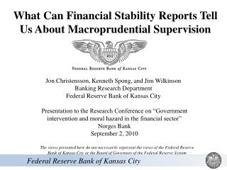 What Can Financial Stability Reports Tell Us About Macroprudential Supervision