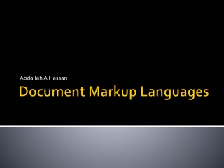 Document Markup Languages