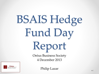 BSAIS Hedge Fund Day Report