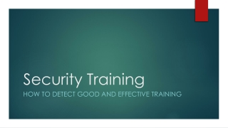 Security Training