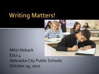 Writing Matters!